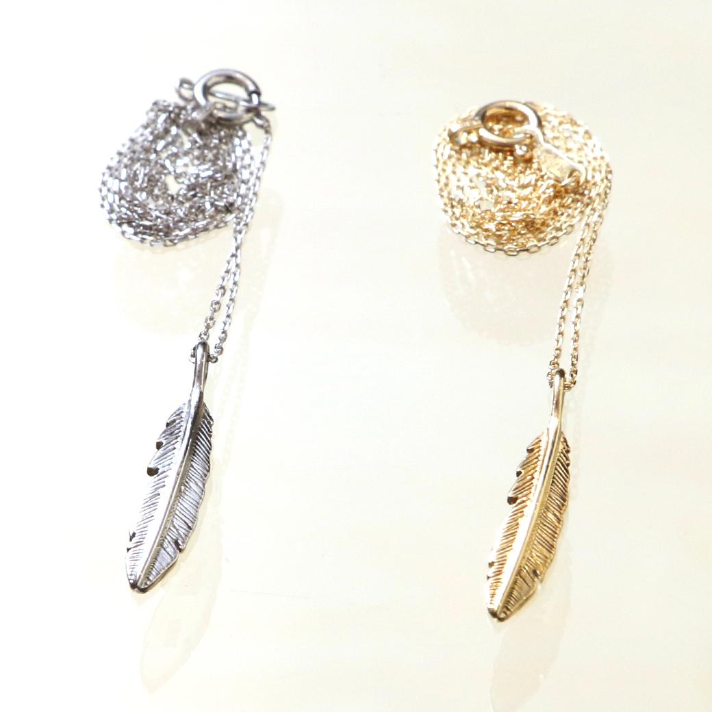 EBB TIDE Feather Necklace 「海に入る時でも肌身離さず着用できる」