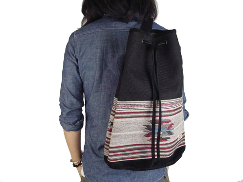 MARBLES BACK PACK BLACK
