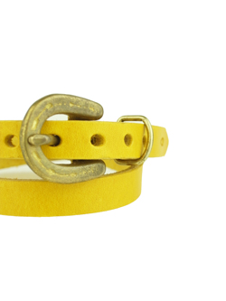 Button Works HORSE SHOE LONG BRACELET YELLOW