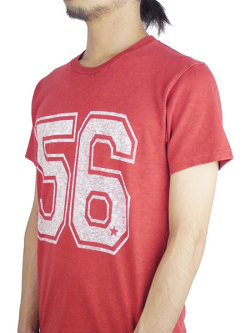 M SHORT SLEEVE VINTAGE STYLE T-SHIRT (56) RED